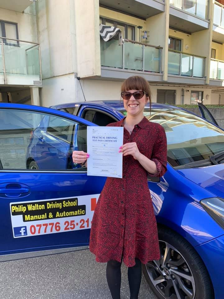 Driving test passed with Philip Walton Driving School
